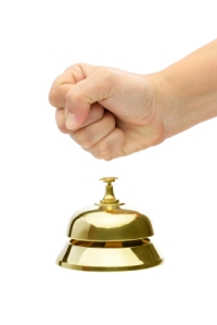 Rude Customer Rings Bell